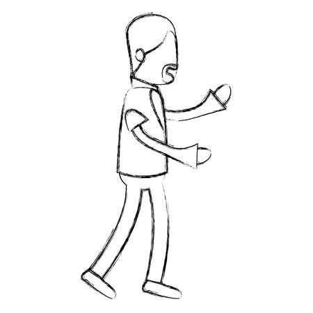 俳優演技姿勢ベクトル イラスト デザインのアバター