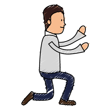 Avatar of an actor acting pose vector illustration design Illustration
