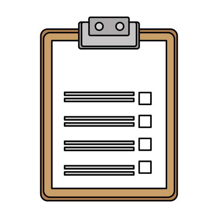 clipboard paper isolated icon vector illustration design Çizim