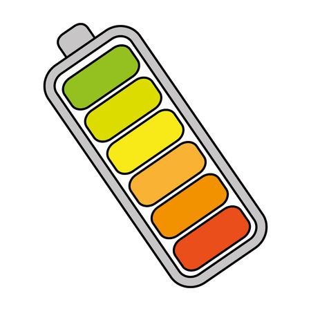 Batterie-Ebene isoliert Symbol Vektor-Illustration, Design, Standard-Bild - 82743081