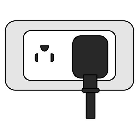 energy plug with socket vector illustration design 向量圖像