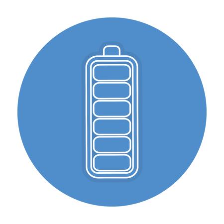 バッテリー レベルの分離アイコン ベクトル イラスト デザイン  イラスト・ベクター素材