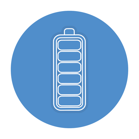 Battery level isolated icon vector illustration design