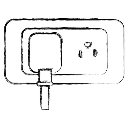 energy plug with socket vector illustration design Illusztráció