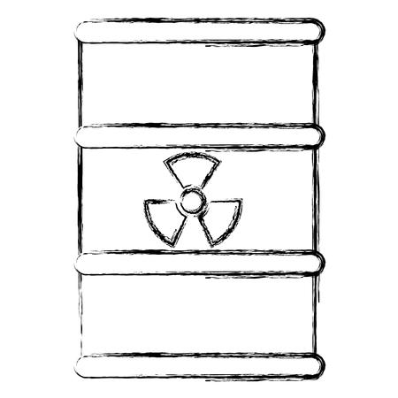 atomic barrel isolated icon vector illustration design