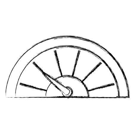 Indicador de presión aislado icono vector diseño de ilustración Foto de archivo - 82731542