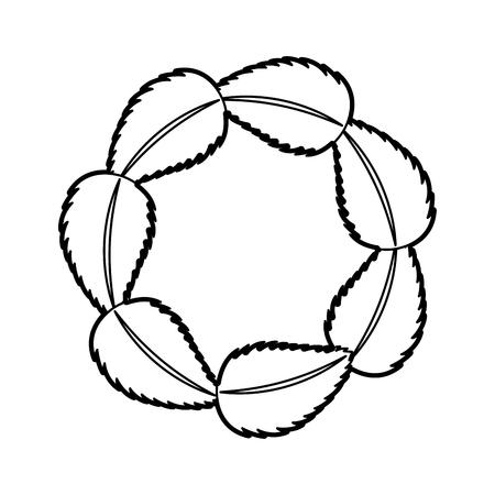 tea leafs product emblem vector illustration design