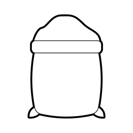 sugar sack isolated icon vector illustration design