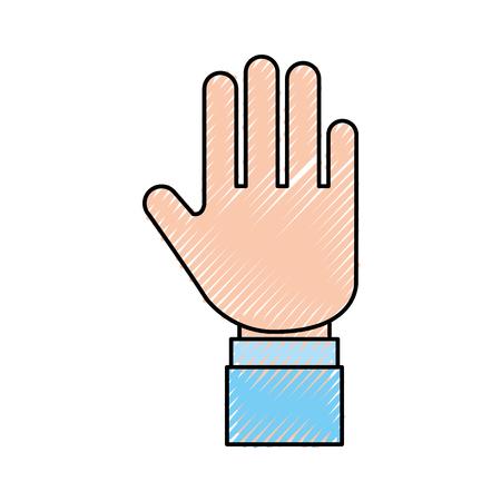 손 인간의 중지 아이콘 벡터 일러스트 레이 션 디자인 일러스트