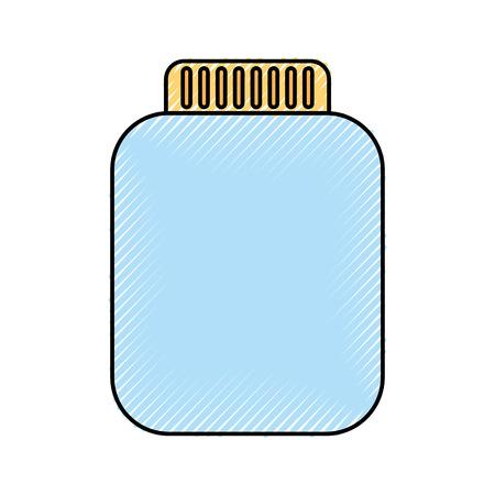 jar bottle icon vector illustration design