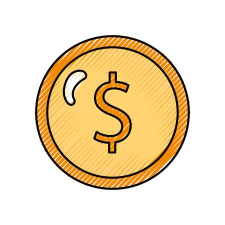 コイン分離お金アイコン ベクトル イラスト デザイン