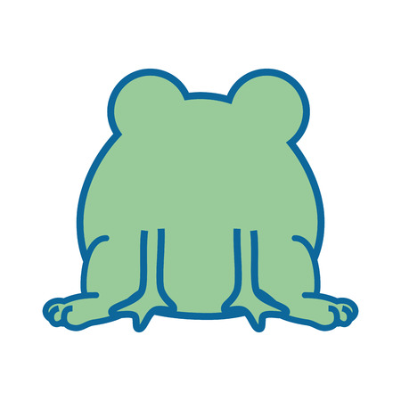 isolated cute standing toad icon vector illustration graphic design
