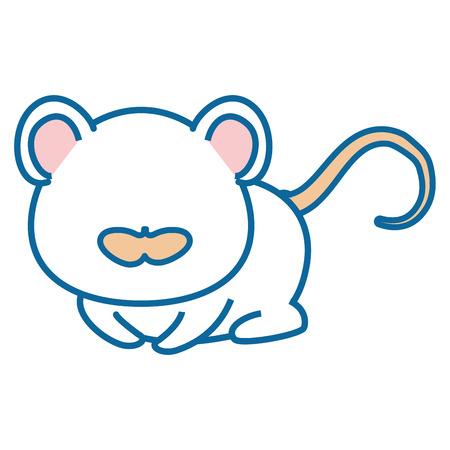 절연 귀여운 마우스 아이콘 벡터 일러스트 그래픽 디자인