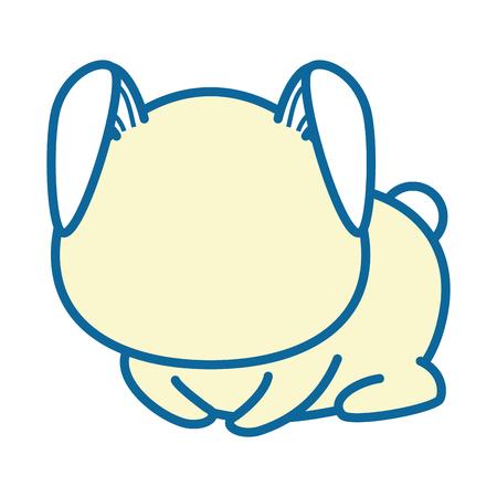 isolated cute sitting rabbit icon vector illustration graphic design