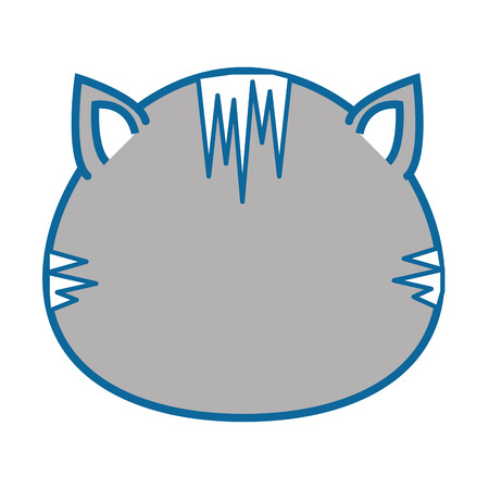 gray: Isolated cute cat face icon vector illustration graphic design Illustration