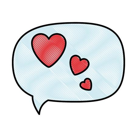 Thinking love speech bubble icon