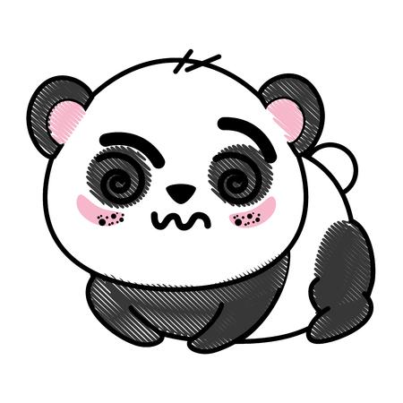 Panda mignon isolé ours icône vecteur illustration graphique Banque d'images - 82813048