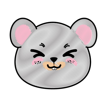 Isolated cute mouse face icon vector illustration graphic design Imagens - 82820027