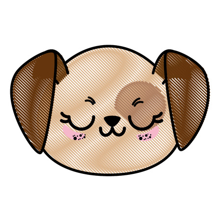 Isolated cute dog face icon vector illustration graphic design