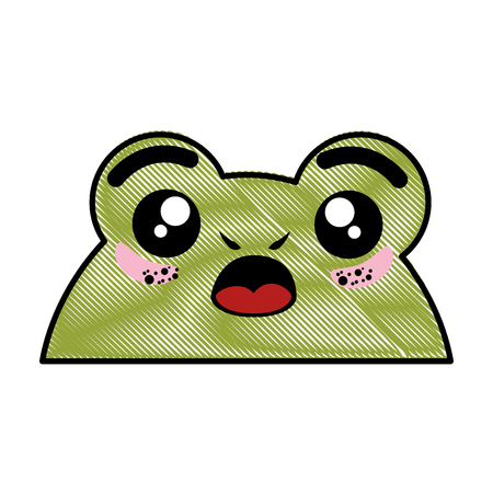 Isolated cute toad face icon vector illustration graphic design Ilustração