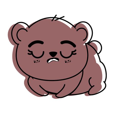 격리 된 귀여운 팬더 곰 아이콘 벡터 일러스트 그래픽 디자인