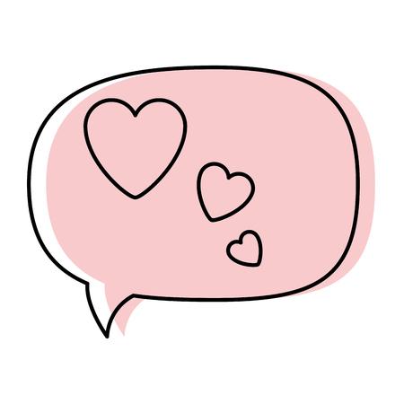 thinking love speech bubble icon vector illustration graphic design