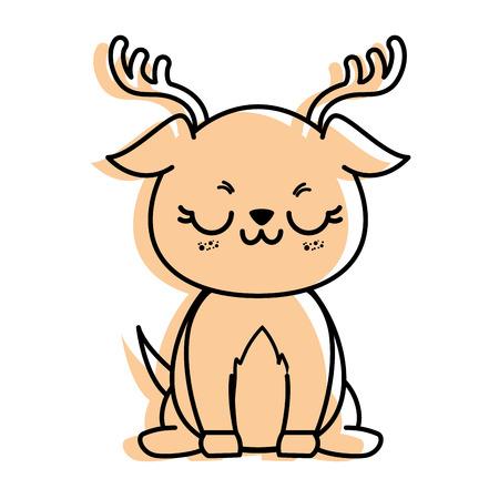 isolated cute standing deer icon vector illustration graphic design 版權商用圖片 - 82814317