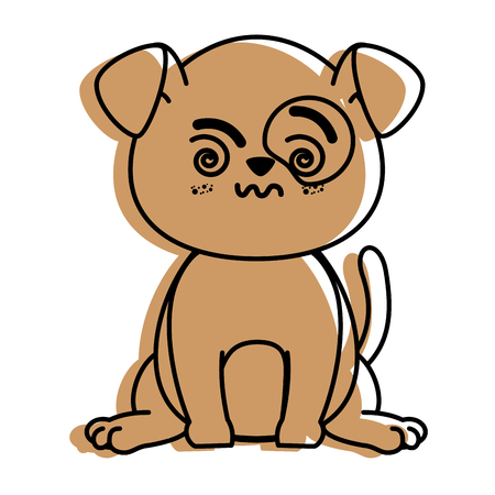 isolated cute standing dog icon vector illustration graphic design