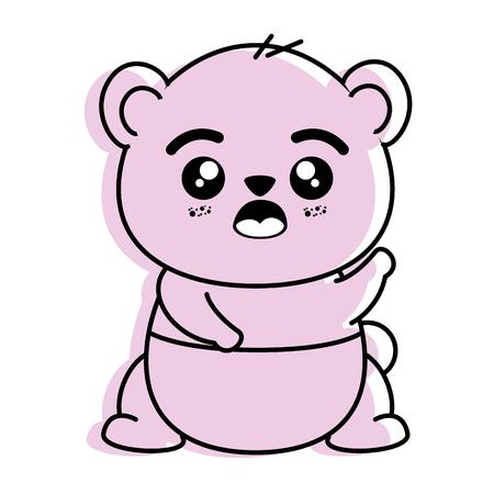 isolated cute panda bear icon vector illustration graphic design