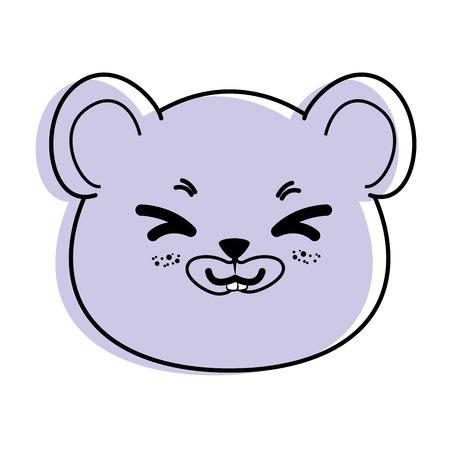 Isolato cute mouse faccia icona illustrazione vettoriale illustrazione grafica Archivio Fotografico - 82814436