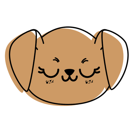 Isolated cute dog face icon vector illustration graphic design. Illustration