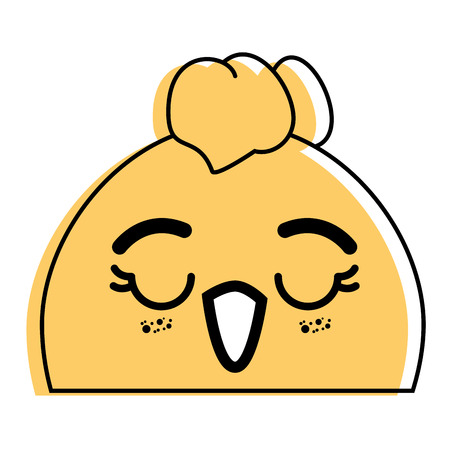 isolated cute chicken face icon vector illustration graphic design Illustration