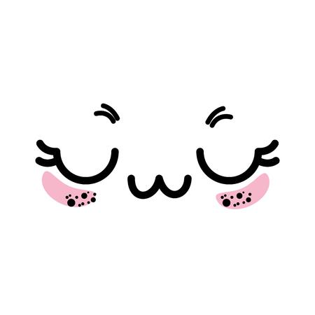 Isoliert cute Gesicht Symbol Vektor-Illustration Grafik-Design Standard-Bild - 82814675