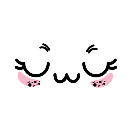 isolated cute face icon vector illustration graphic design