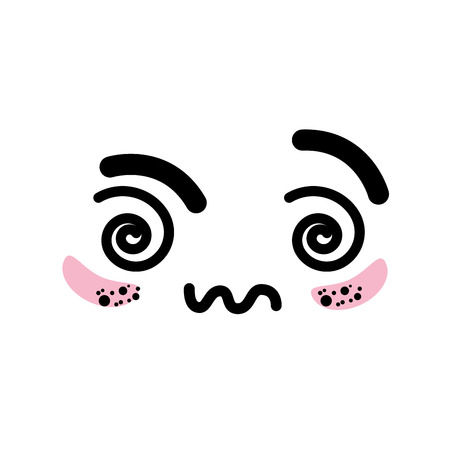 Geïsoleerde schattig gezicht pictogram vector illustratie grafisch ontwerp