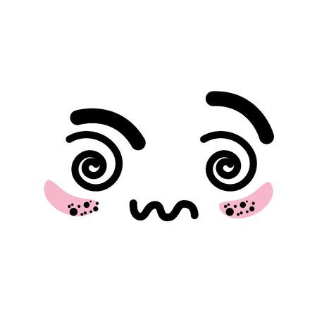visage mignon isolé icône vecteur illustration graphisme