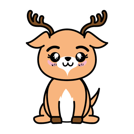 isolated cute standing deer icon vector illustration graphic design 版權商用圖片 - 82814688