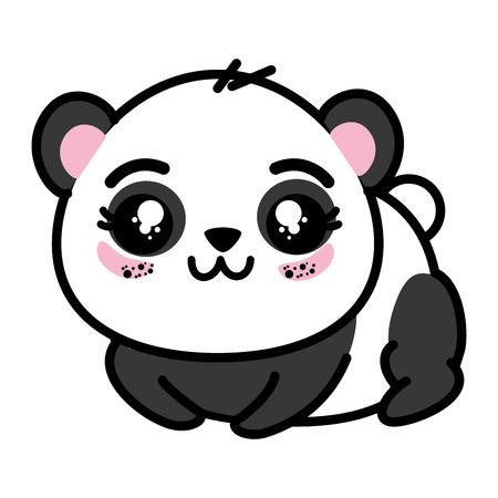 Isoliert cute Panda tragen Symbol Vektor-Illustration Grafik-Design Standard-Bild - 82814718