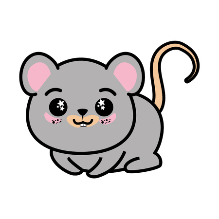 gray hair: isolated cute mouse icon vector illustration graphic design