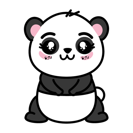 isolated cute panda bear icon vector illustration graphic design Stok Fotoğraf - 82825900