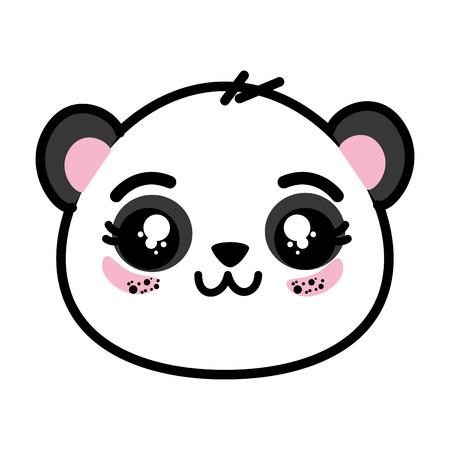 かわいいパンダの顔アイコン ベクトル イラスト グラフィック デザイン