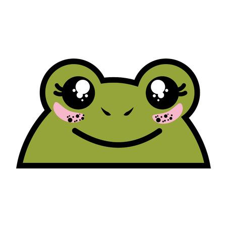 孤立したかわいいヒキガエルの顔アイコン ベクトル イラスト グラフィック デザイン  イラスト・ベクター素材