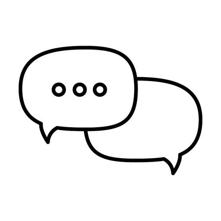 isolated ellipsis speech bubble icon vector illustration graphic design Illustration