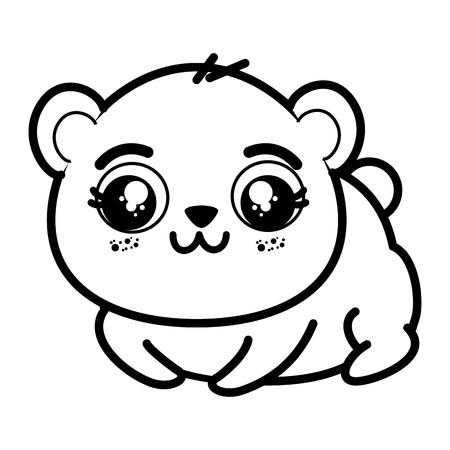 Isoliert cute Panda tragen Symbol Vektor-Illustration Grafik-Design Standard-Bild - 82825915