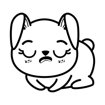 Isolé mignon lapin assis icône vecteur illustration graphisme Banque d'images - 82826095