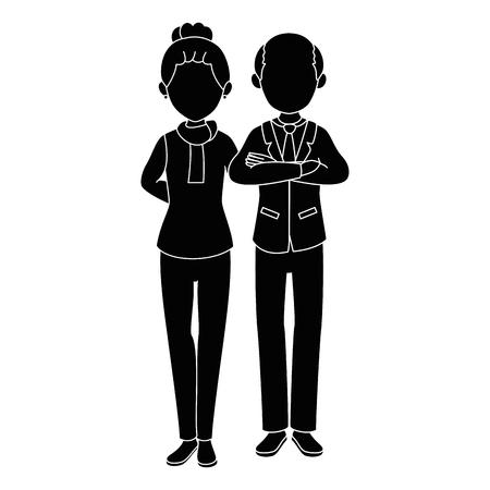 isolated grandparents couple icon vector illustration graphic design