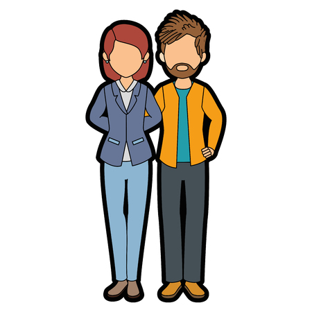 isolated young couple icon vector illustration graphic design