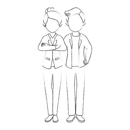 geïsoleerde jonge paar icoon vector illustratie grafisch ontwerp