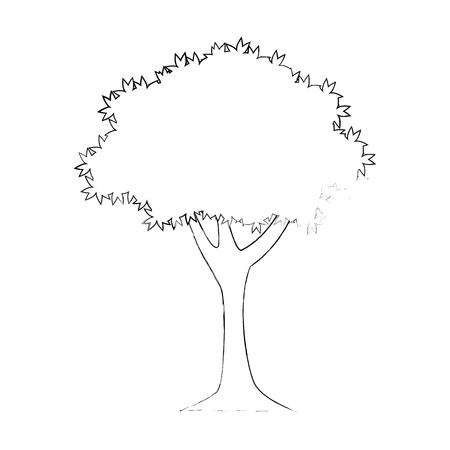 isolated nature big tree icon vector illustration graphic design Illustration
