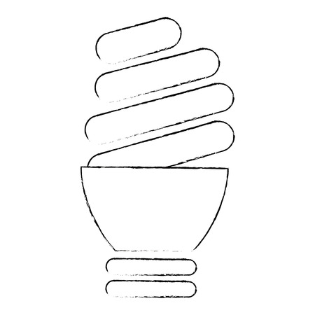 isolated light bulb icon vector illustration graphic design Stock Photo